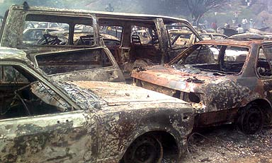 Two Feared Killed And Thirteen Vehicles Burnt In Akwa Ibom
