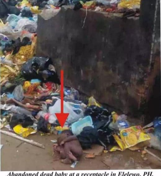 Dead Baby Dumped At Receptacle In Portharcourt As RIWAMA Frowns