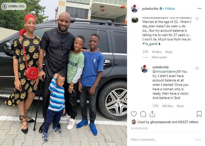 I Didn't Have Anything In My Account Before I Settled Down- Yul Edochie