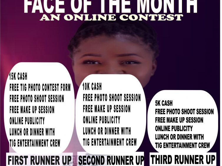 Be Our Face Of The Month And Stand A Chance To Win Cash Prize