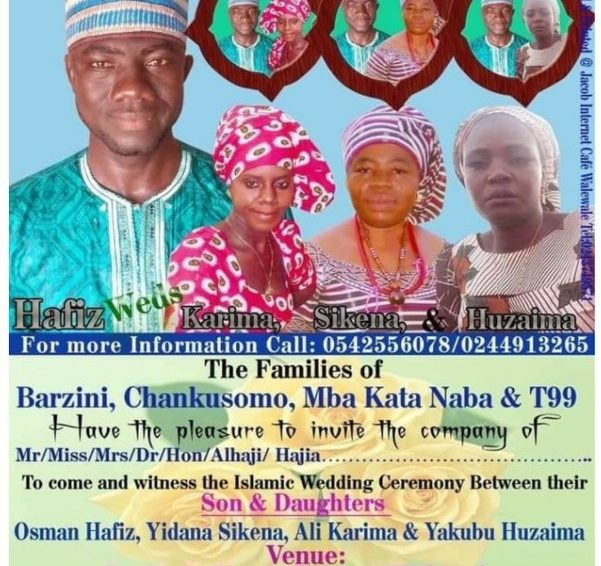 Ghanaian Man Set To Marries 3 Women Same Day