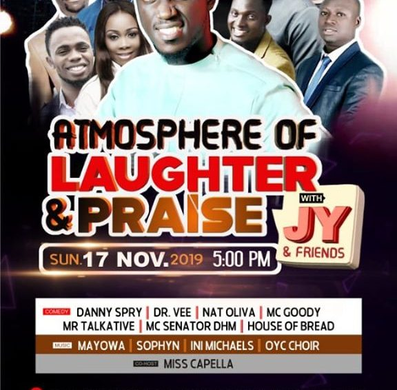 Plan To Attend: Atmosphere Of Laughter And Praise With JY And Friends