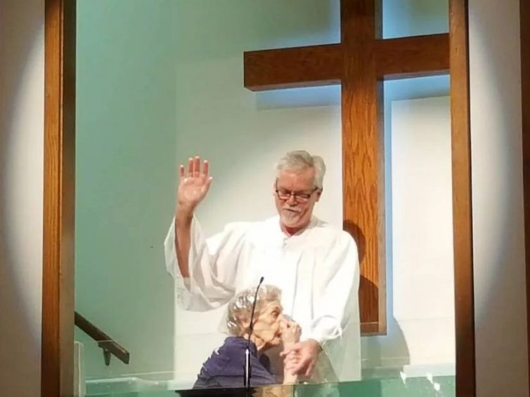 94-Year-Old Woman gets Baptized and wants others to know 'It's Never too Late to Become a Christian'