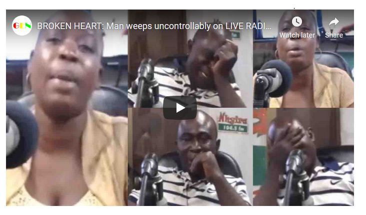 Man Shed Tears On Live Radio Whiles Wife Narrates How She Cheated On Him