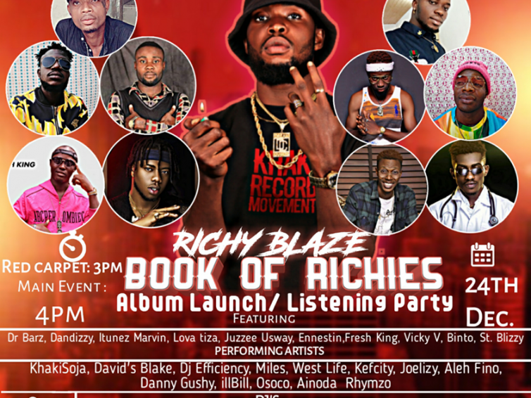 Plan To Attend: Richy Blaze Book Of Richies Album Launch/Listening Party