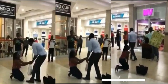 Girl Proposed To Her Boyfriend At A Shopping Mall But The Guy Turned Her Down